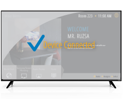 TV shows device connected